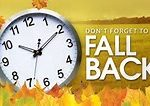 Daylight Savings Time Ends: November 6, 2016